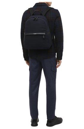 Мужской текстильный рюкзак GIORGIO ARMANI темно-синего цвета, арт. Y20134/YI69E | Фото 2