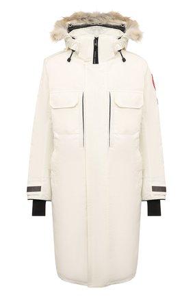 Мужская пуховая парка westmount CANADA GOOSE белого цвета, арт. 2004M | Фото 1 (Материал внешний: Синтетический материал; Рукава: Длинные; Материал подклада: Синтетический материал; Мужское Кросс-КТ: пуховик-длинный; Длина (верхняя одежда): До колена; Кросс-КТ: Куртка; Стили: Спорт-шик; Материал утеплителя: Пух и перо)