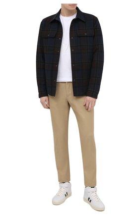 Мужские кожаные кеды TOM FORD белого цвета, арт. J1227T-LCL074 | Фото 2 (Подошва: Массивная; Материал внутренний: Натуральная кожа)