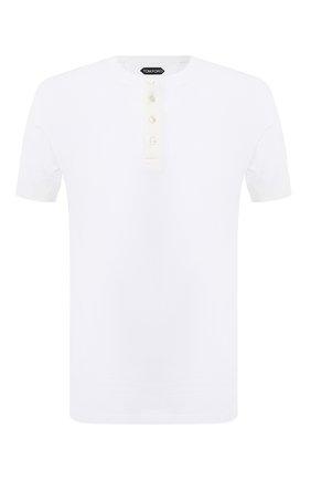 Мужская хлопковая футболка TOM FORD белого цвета, арт. BW402/TFJ957 | Фото 1 (Принт: Без принта; Мужское Кросс-КТ: Футболка-одежда; Длина (для топов): Стандартные; Материал внешний: Хлопок; Стили: Кэжуэл; Рукава: Короткие)
