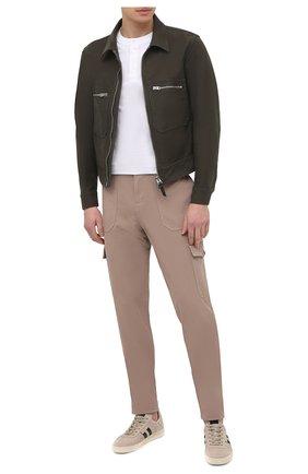 Мужская хлопковая футболка TOM FORD белого цвета, арт. BW402/TFJ957 | Фото 2 (Принт: Без принта; Мужское Кросс-КТ: Футболка-одежда; Длина (для топов): Стандартные; Материал внешний: Хлопок; Стили: Кэжуэл; Рукава: Короткие)