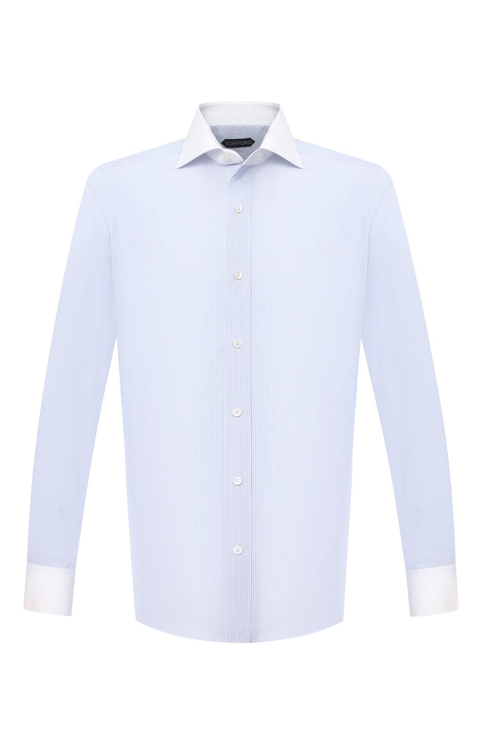 Мужская хлопковая сорочка TOM FORD синего цвета, арт. 9FT022/94SWAX   Фото 1