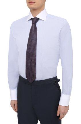 Мужская хлопковая сорочка TOM FORD синего цвета, арт. 9FT022/94SWAX   Фото 4