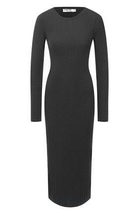 Женское платье из шерсти и кашемира ADDICTED темно-серого цвета, арт. MK715 | Фото 1