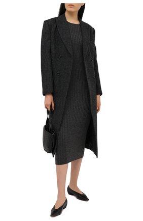 Женское платье из шерсти и кашемира ADDICTED темно-серого цвета, арт. MK715 | Фото 2