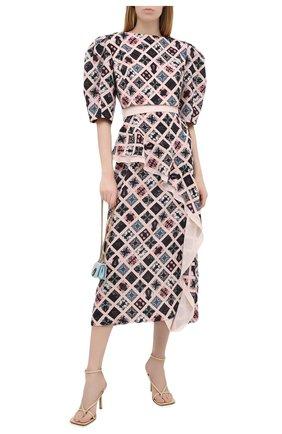 Женское платье ULYANA SERGEENKO розового цвета, арт. ABM013FW20P(1702т20) | Фото 2