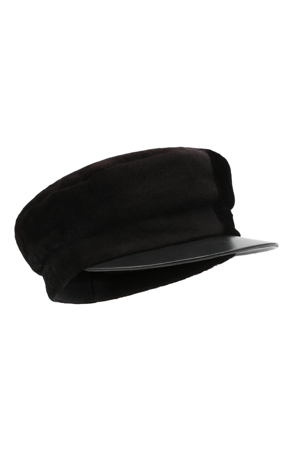 Женская кепка из меха норки KUSSENKOVV темно-коричневого цвета, арт. 120218504426 | Фото 1