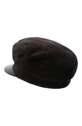 Женская кепка из меха норки KUSSENKOVV темно-коричневого цвета, арт. 120218504426 | Фото 2