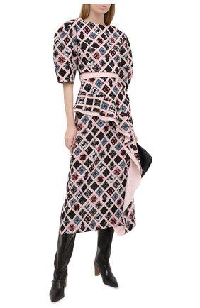 Женское платье ULYANA SERGEENKO розового цвета, арт. ABM013FW20P (1336т20) | Фото 2