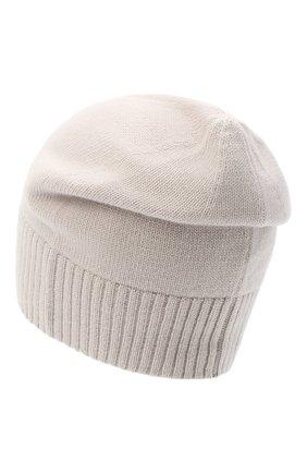 Женская кашемировая шапка lisbon CANOE светло-бежевого цвета, арт. 4912452 | Фото 2