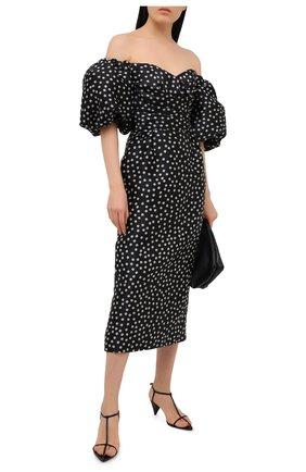 Женское шелковое платье RASARIO черно-белого цвета, арт. 0110W20_12 | Фото 2