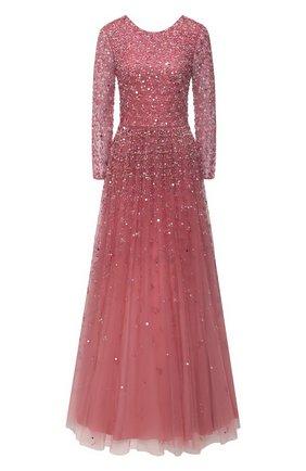 Женское платье с пайетками VALENTINO розового цвета, арт. UB3VDAZ01ED | Фото 1