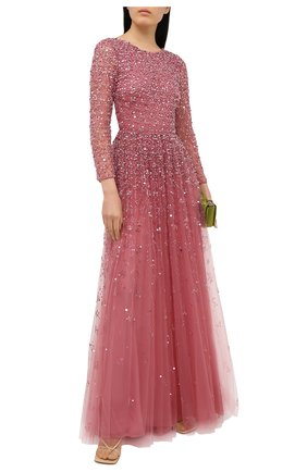 Женское платье с пайетками VALENTINO розового цвета, арт. UB3VDAZ01ED | Фото 2