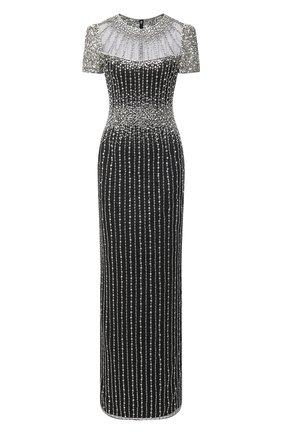 Женское платье с пайетками JENNY PACKHAM черного цвета, арт. HHD106L | Фото 1