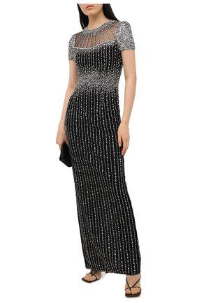 Женское платье с пайетками JENNY PACKHAM черного цвета, арт. HHD106L | Фото 2