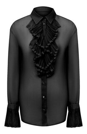 Женская шелковая блузка MAISON MARGIELA черного цвета, арт. S29DL0190/S38057 | Фото 1