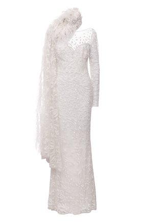 Женское платье ZUHAIR MURAD бежевого цвета, арт. DRP20019/EMC0003 | Фото 1