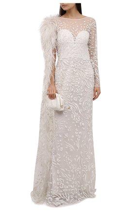 Женское платье ZUHAIR MURAD бежевого цвета, арт. DRP20019/EMC0003 | Фото 2