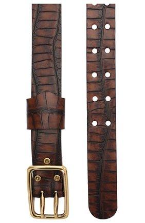 Женский кожаный ремень CHLOÉ темно-коричневого цвета, арт. CHC20WC043D90   Фото 2