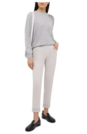 Женский кашемировый пуловер BRUNELLO CUCINELLI серого цвета, арт. M12176200 | Фото 2