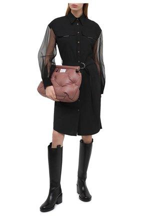 Женское платье из хлопка и шелка BRUNELLO CUCINELLI черного цвета, арт. MH127AFM31 | Фото 2