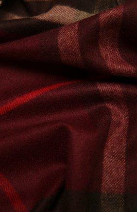 Мужские кашемировый шарф BURBERRY бордового цвета, арт. 8021695 | Фото 2