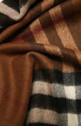 Мужские кашемировый шарф BURBERRY коричневого цвета, арт. 8037147 | Фото 2