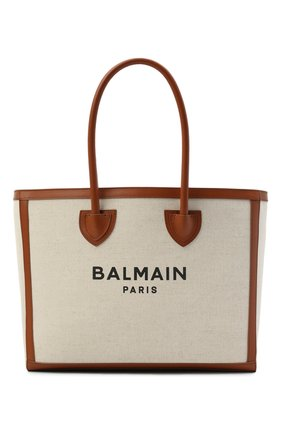 Женский сумка-тоут b-army 42 BALMAIN коричневого цвета, арт. VN1S615/TCFN | Фото 1