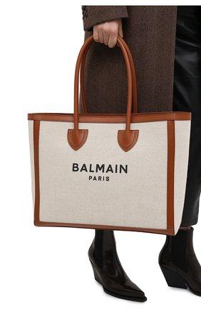 Женский сумка-тоут b-army 42 BALMAIN коричневого цвета, арт. VN1S615/TCFN | Фото 2
