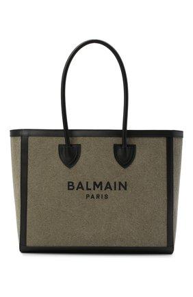 Женский сумка-тоут b-army 42 BALMAIN хаки цвета, арт. VN1S615/TCPY | Фото 1