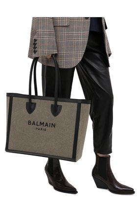 Женский сумка-тоут b-army 42 BALMAIN хаки цвета, арт. VN1S615/TCPY | Фото 2