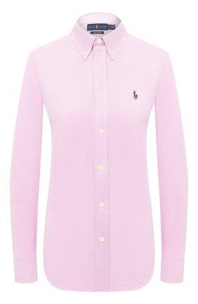 Женская хлопковая рубашка POLO RALPH LAUREN розового цвета, арт. 211664427 | Фото 1