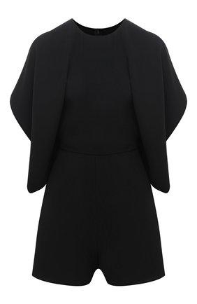 Женский шелковый комбинезон VALENTINO черного цвета, арт. VB3VE1H61MM | Фото 1