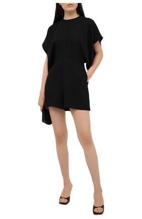 Женский шелковый комбинезон VALENTINO черного цвета, арт. VB3VE1H61MM | Фото 2