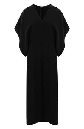 Женский шелковый комбинезон VALENTINO черного цвета, арт. VB3VE1H51MM | Фото 1