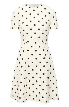 Женское платье из шерсти и шелка VALENTINO черно-белого цвета, арт. VB3VAUH164W | Фото 1