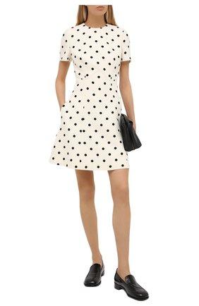 Женское платье из шерсти и шелка VALENTINO черно-белого цвета, арт. VB3VAUH164W | Фото 2