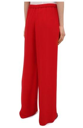 Женские шелковые брюки VALENTINO красного цвета, арт. VB3RB4551MM | Фото 4