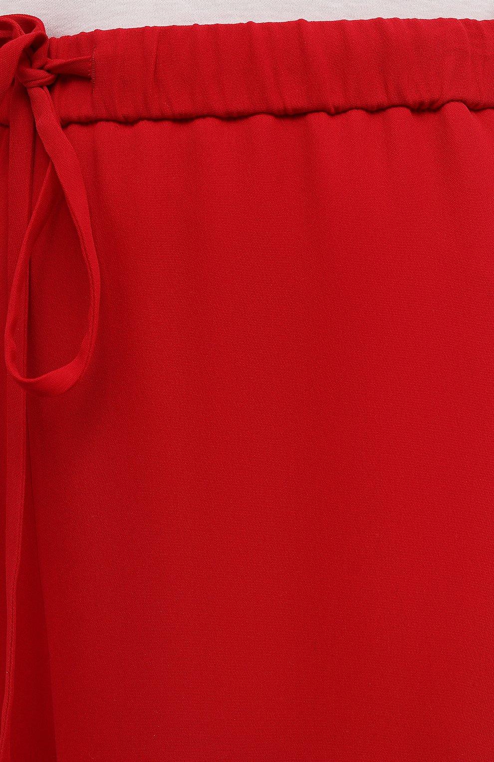 Женские шелковые брюки VALENTINO красного цвета, арт. VB3RB4551MM | Фото 5
