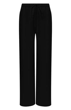 Женские шелковые брюки VALENTINO черного цвета, арт. VB3RB4551MM   Фото 1
