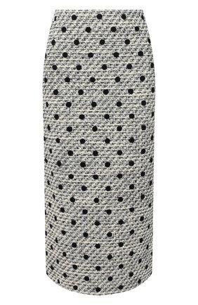 Женская юбка VALENTINO черно-белого цвета, арт. VB3RA7J569M | Фото 1