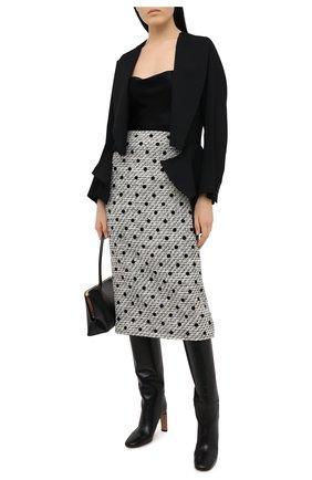 Женская юбка VALENTINO черно-белого цвета, арт. VB3RA7J569M | Фото 2