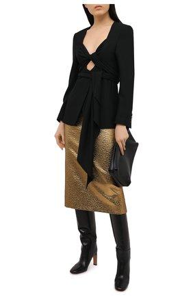 Женская юбка VALENTINO золотого цвета, арт. VB3RA7B5663 | Фото 2