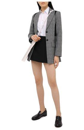 Женская юбка-шорты VALENTINO черного цвета, арт. VB3RA7661CF | Фото 2