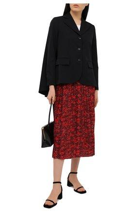 Женская шелковая юбка VALENTINO красного цвета, арт. VB3RA74062W | Фото 2