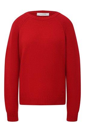 Женский кашемировый свитер VALENTINO красного цвета, арт. VB3KCB80652   Фото 1