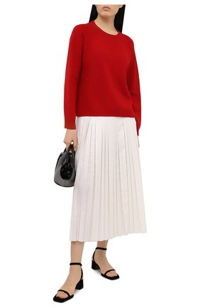 Женский кашемировый свитер VALENTINO красного цвета, арт. VB3KCB80652   Фото 2