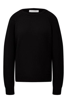 Женский кашемировый свитер VALENTINO черного цвета, арт. VB3KCB80652 | Фото 1