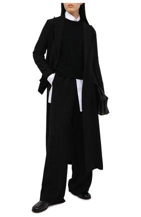 Женский кашемировый свитер VALENTINO черного цвета, арт. VB3KCB80652 | Фото 2