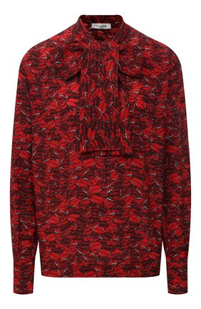 Женская шелковая блузка VALENTINO красного цвета, арт. VB3AE5U062W | Фото 1
